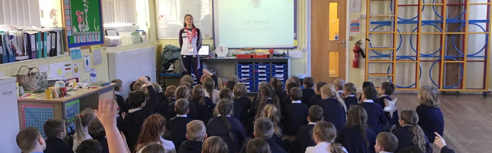 Leah barrow, GB athlete visits school